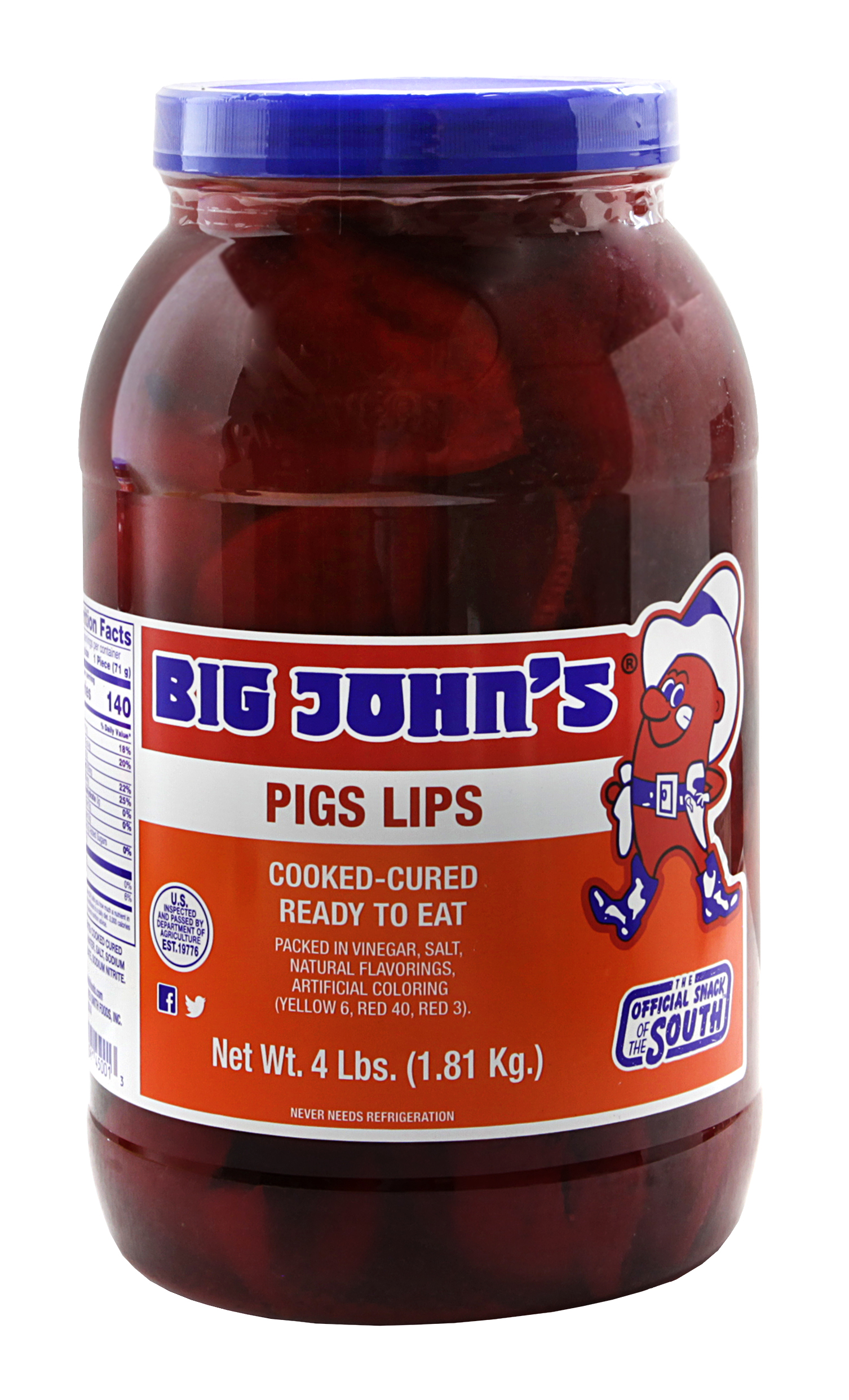 Big John S Pickled Pigs Lips Red Smith Foods
