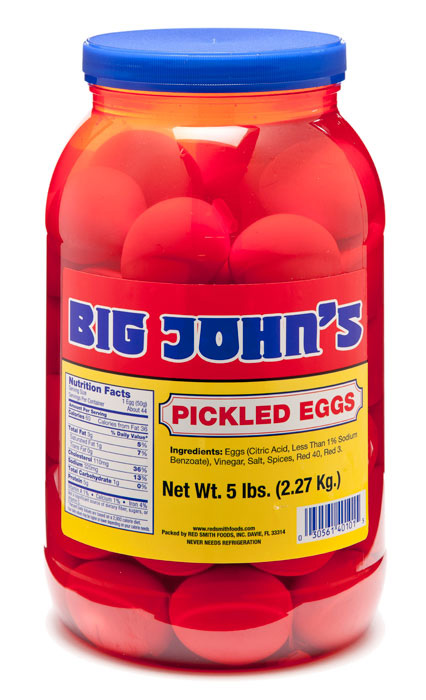 Big John S Pickled Eggs 1 Gallon Jar Red Smith Foods